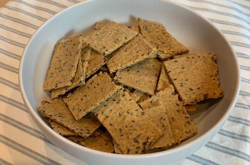 Keto Sesame Flaxseed Crackers