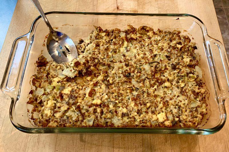 Sausage & Onion Keto Stuffing
